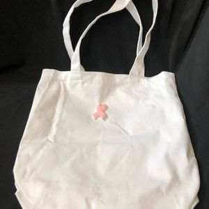 Breast cancer awareness Bags - Breast cancer awareness white tote gift bag